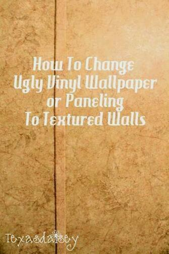 learn how to change ugly vinyl wallpaper or paneling to textured walls