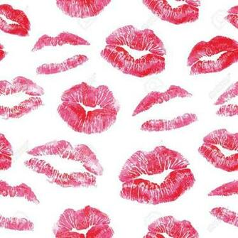 Seamless Pattern   Red Lips Kisses Prints Background Realistic