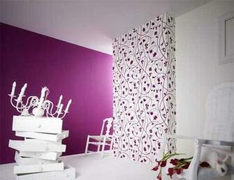 Designer Purple Home Wallpaper for Living Room