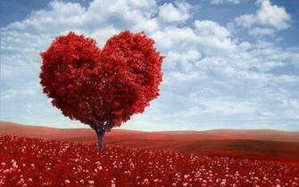 Valentine Love Tree computer desktop wallpapers pictures