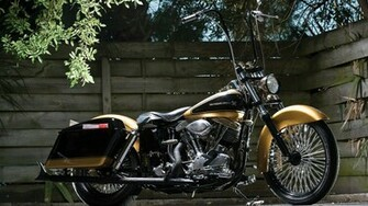 1967 Harley Davidson Shovelhead Widescreen Wallpaper   6878