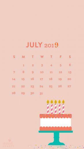 July 2019 iPhone Calendar Wallpaper Homemaking in 2019