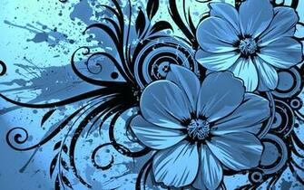 Vector Flower Blue Wallpaper HD wallpapers   Vector Flower Blue