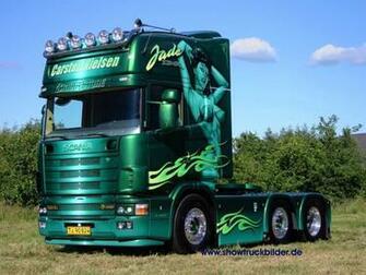 HQ green trailer Scania Trucks Wallpaper Num 66 1280 x 960 4926 Kb
