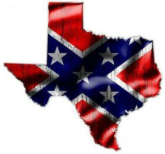 TEXAS TWO Confederate Rebel Flag Vinyl Decals