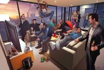 la saga Grand Theft Auto jugando a GTA V en un impresionante wallpaper
