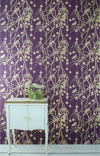 Living   Treebomb Wallpaper Purple   Modern   Wallpaper   by HORNE