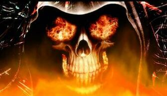 Gallery for   animated skulls on fire