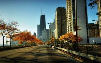 Wallpaper usa illinois chicago city embankment road