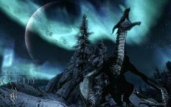 Dragon Skyrim Wallpaper HD Wallpapers Backgrounds Images Art