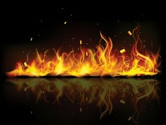 Fiery Orange Flames Backgrounds For PowerPoint   Abstract and
