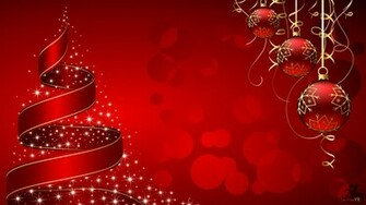 Christmas wallpapers Christmas decorations and ribbon on Christmas