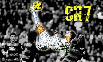 CR7 Real Madrid Overhead Kick Wallpaper Wide or HD Artistic