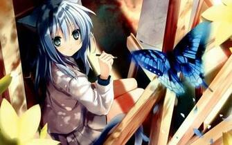 neko anime cat girl butterfly hd wallpaper 19201200 b040