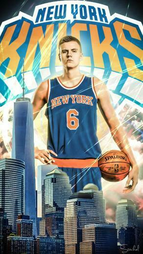 Made a Kristaps Porziis mobile wallpaper to celebrate the mobile