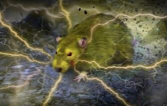 Wallpaper fiction realism zipper anime Pikachu rat anime