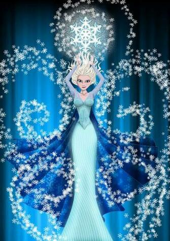 Disney Frozen Elsa Wallpaper in Pixels