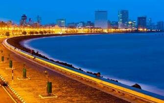Beautiful View Marine Drive Mumbai Wallpaper 28322   Baltana