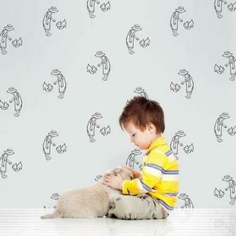 Fetch GrayBlack Removable Wallpaper Kids WallPaper Pinterest