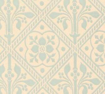 Trellis Wallpaper   Gummer Blue   Historical wallpapers collection