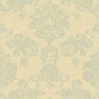 Beige and Grey Hand Block Damask Wallpaper   Wall Sticker Outlet