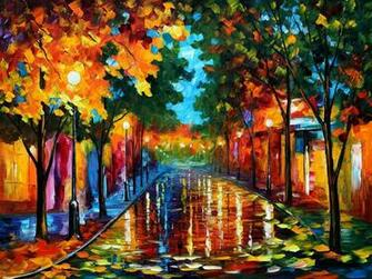 The gallery for   gt Leonid Afremov Tree Paintings