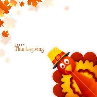 Cute Turkey Bird on maple leaves background for Happy Thanksgiving