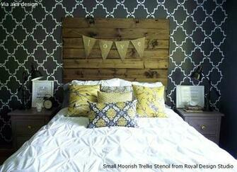 Allover Wallpaper Pattern Look on Walls Royal Design Studio Stencils
