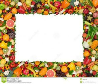 Fruit And Vegetable Borders Stock Image HD Walls Find Wallpapers