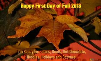 First day of Fall 2013 Countdown HD Wallpaper