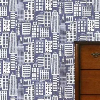 cityscape wallpaper by wall library notonthehighstreetcom