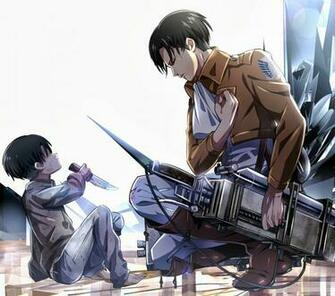 Levi Rivaille Attack on Titan Shingeki no Kyojin 3D Maneuver Gear Male