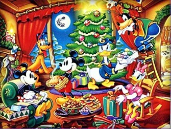 Walt Disney Wallpapers The Disney Gang Christmas walt disney