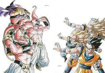 Buu Son Goku Son Gohan Dragon Ball Z wallpaper 1602x1118 200706