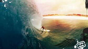 Surfer surfing 1080p Full HD desktop background