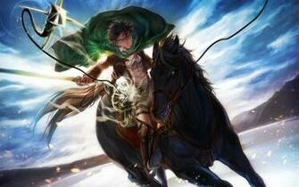 Attack On Titan Iphone Wallpaper Levi Levi riding horse attack on