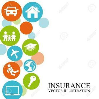 Insurance Design Over White Background Royalty Cliparts