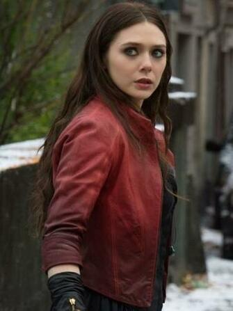 Jackets Elizabeth Olsen Age of Ultron Scarlet Witch leather Jacket
