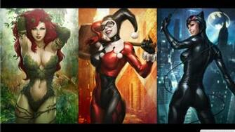 Dc Comics Harley Quinn Catwoman Poison Ivy 1366768 Wallpaper