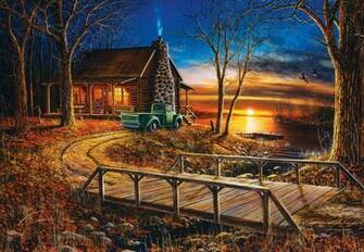 Cabin by the Lake wallpaper   ForWallpapercom