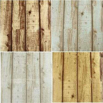 Rustic Grained Effect Wood Panel Wallpaper Vinyl Waterproof wall