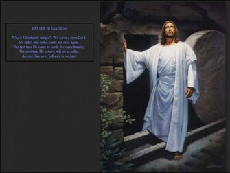 Easter Blessings Jesus Resurrection Wallpaper Christian