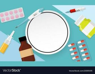 Health medical background with frame Royalty Vector