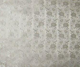 White WALLPAPER Floral Silk Brocade Fabric by silkfabric on Etsy