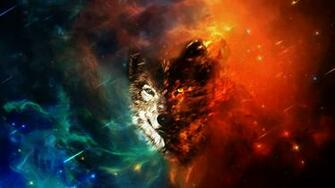 Wolf Space Wallpaper HD by Oblivigate