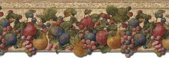 Details about KITCHEN GRAPES APPLES PEARS FRUITS Wallpaper Border
