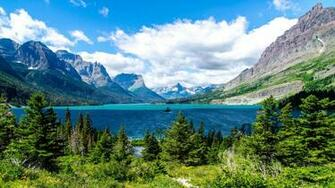 Saint Mary Lake Glacier National Park Wallpapers HD Wallpapers