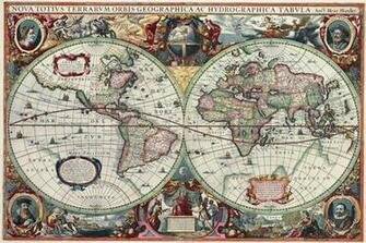 Map Globe Atlas Antique wallpaper mural decor photo wallpapers ART 5