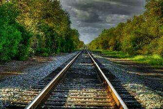 Train Track Wallpaper Railroad Track Wallpaper