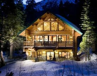 Winter Log Cabin Android Wallpapers